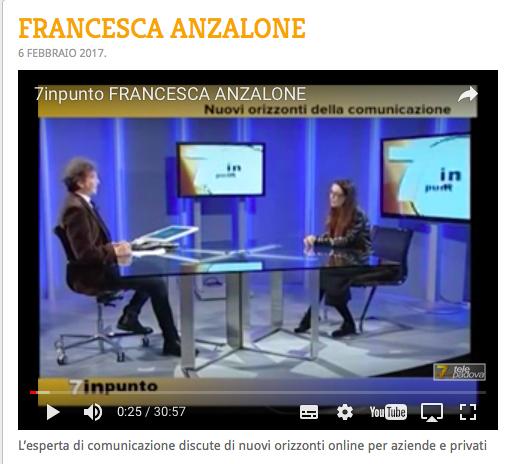 7INPUNTO 7 Gold TELEPADOVA ospita Francesca Anzalone