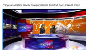 Francesca Anzalone ospite a Televenezia TG Social - Comunicazione e web