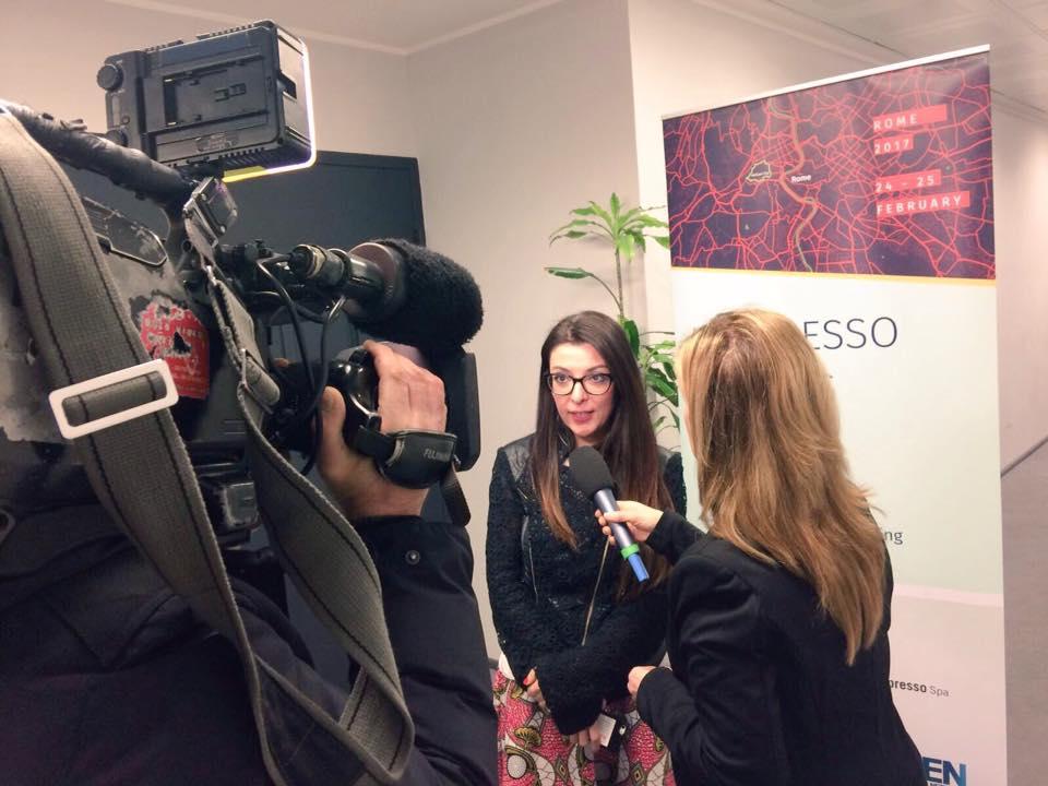 Francesca Anzalone ai microfoni di Rai News