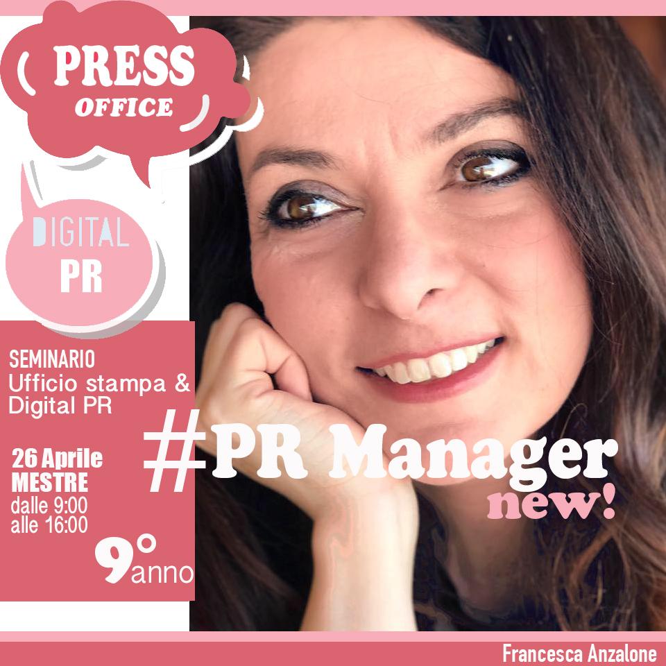 Francesca Anzalone - Ufficio stampa e Digital PR seminario 26 aprile
