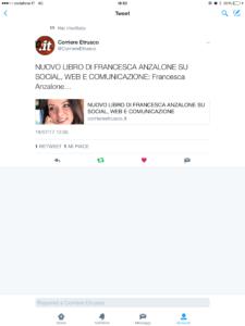 Tweet Corriere Etrusco