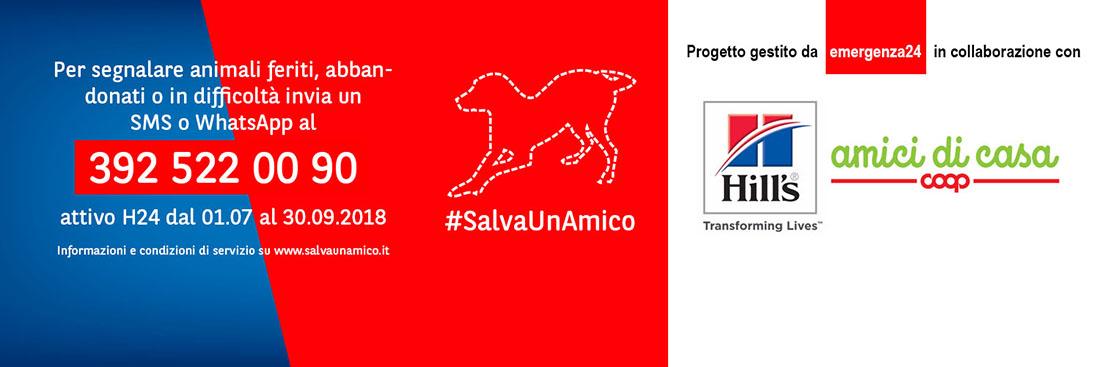 Salvaunamico_numeroattivo contro abbandono e maltrattamento di animali - emergenza24