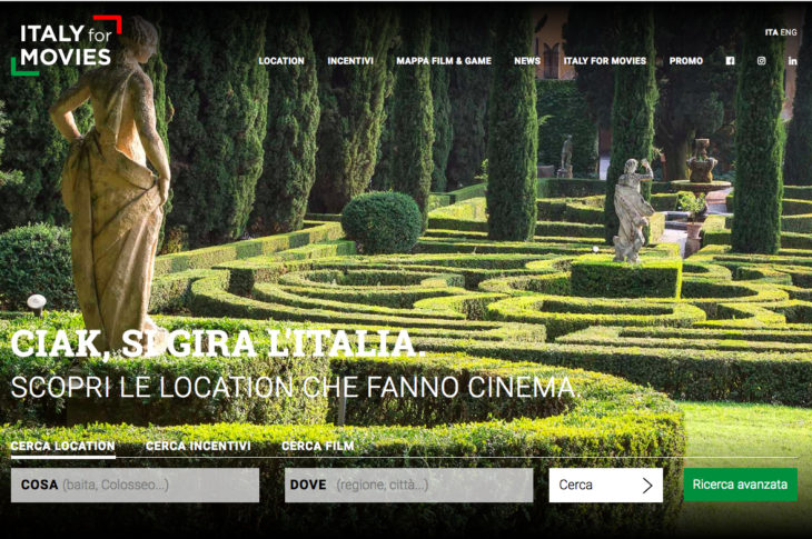 ItalyforMovies - il portale nazionale delle location per il cinema