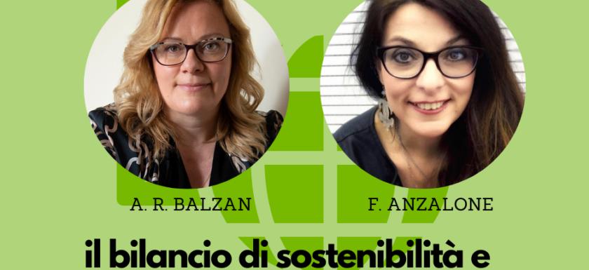 Il bilancio di sostenibilità e come comunicarlo - Ada Rosa Balzan e Francesca Anzalone