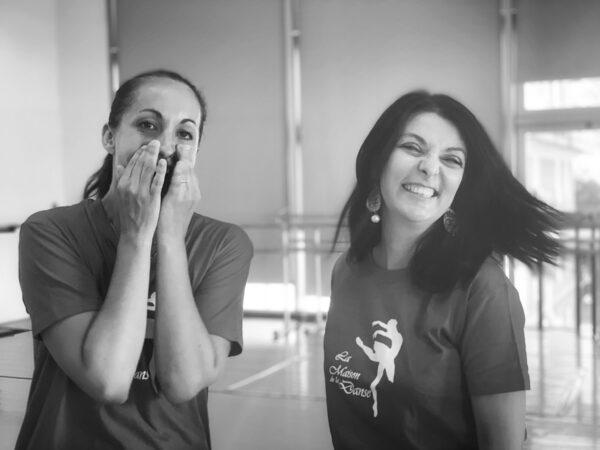 Emmanuelle Ricco e Francesca Anzalone durante le prove del laboratorio creativo personal branding